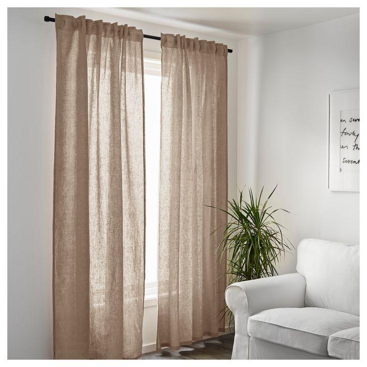 Pannello di tessuto sottile e setoso gioca con la luce ed è facile da vivere. Products Tende Beige Idee Ikea Tende A Pannello
