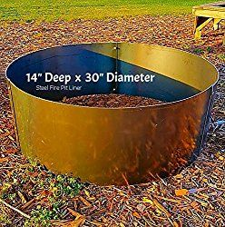 Round Steel Metal Fire Pit Ring Liner Insert 30″ X 14″