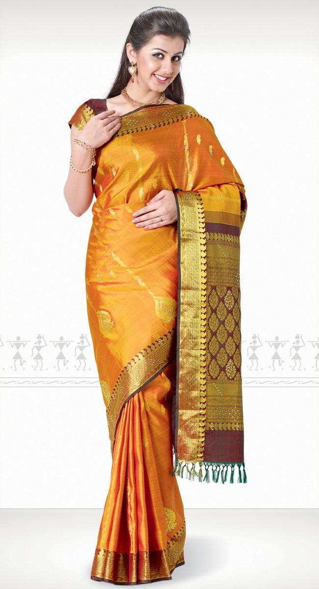 Chamanthi Kanchipuram Saree http://www.harinisilks.com/chamanthi-kanchipuram-saree.html