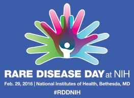 Rare Disease Day is being observed at the NIH on Feb 29, 2016. You can either attend in person or listen to the lectures via webinar. #RareDiseaseDay #NIH