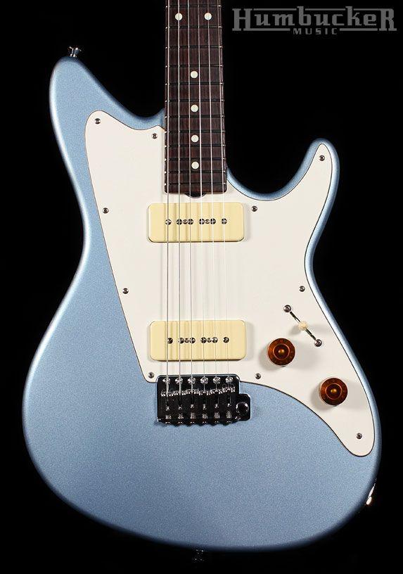 Grosh ElectraJet Standard in Ice Blue Metallic | Humbucker Music