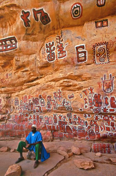 Africa | Dogon Rock paintings, Mali | © Sergio Pessolano