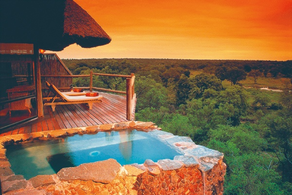 Treehouse suite in Africa