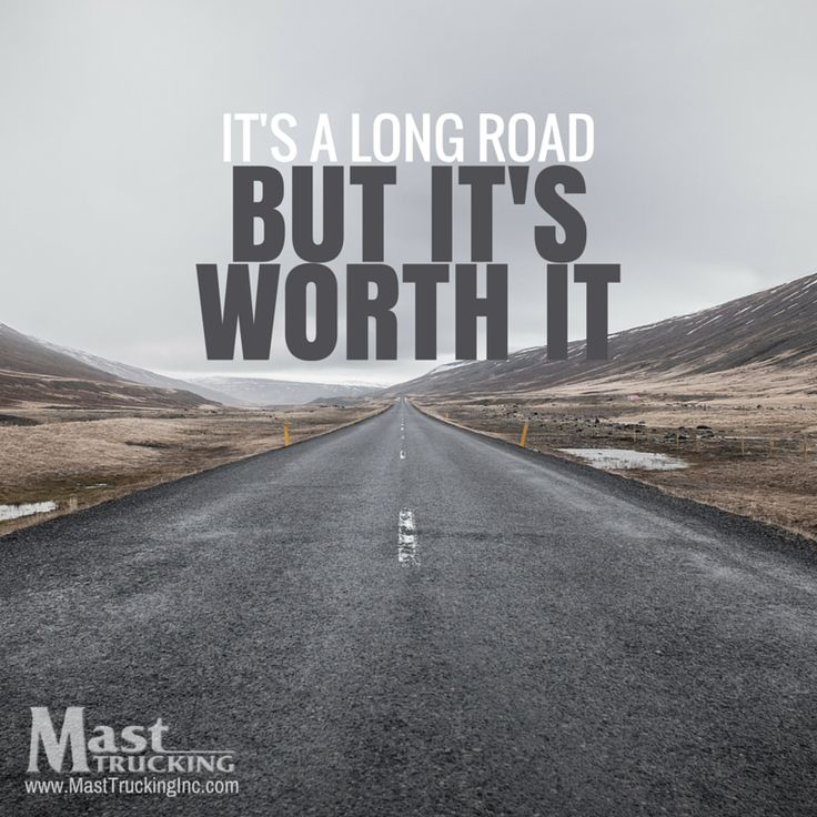 Big Ford Trucks >> It's a long road, but it's worth it. ‪#‎MondayMotivation ...