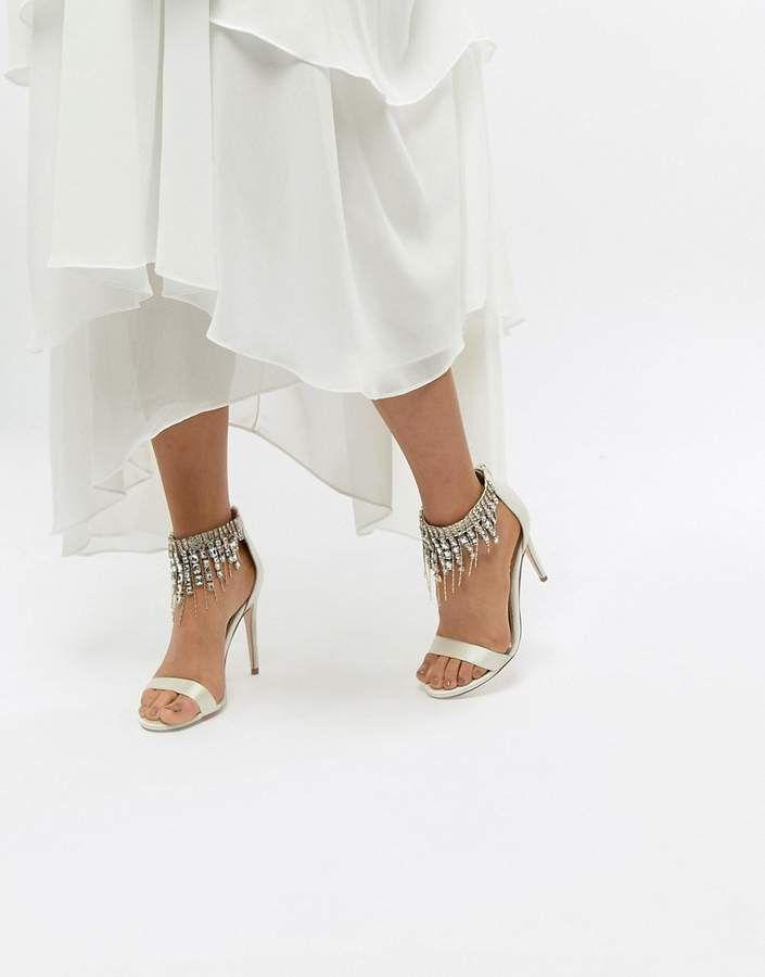 ASOS HALCYON Bridal Embellished Heeled Sandals   Shoes   Style   Fashion #Sponsored