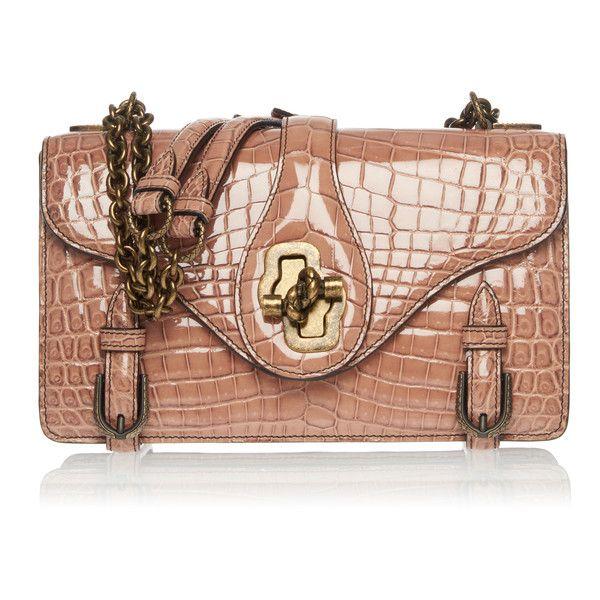 Bottega Veneta Small City Knot Shoulder Bag in Fume Crocodile ($24,300) ❤ liked on Polyvore featuring bags, handbags, shoulder bags, neutral, shoulder bag purse, beige handbags, bottega veneta purse, beige purse and foldover purse