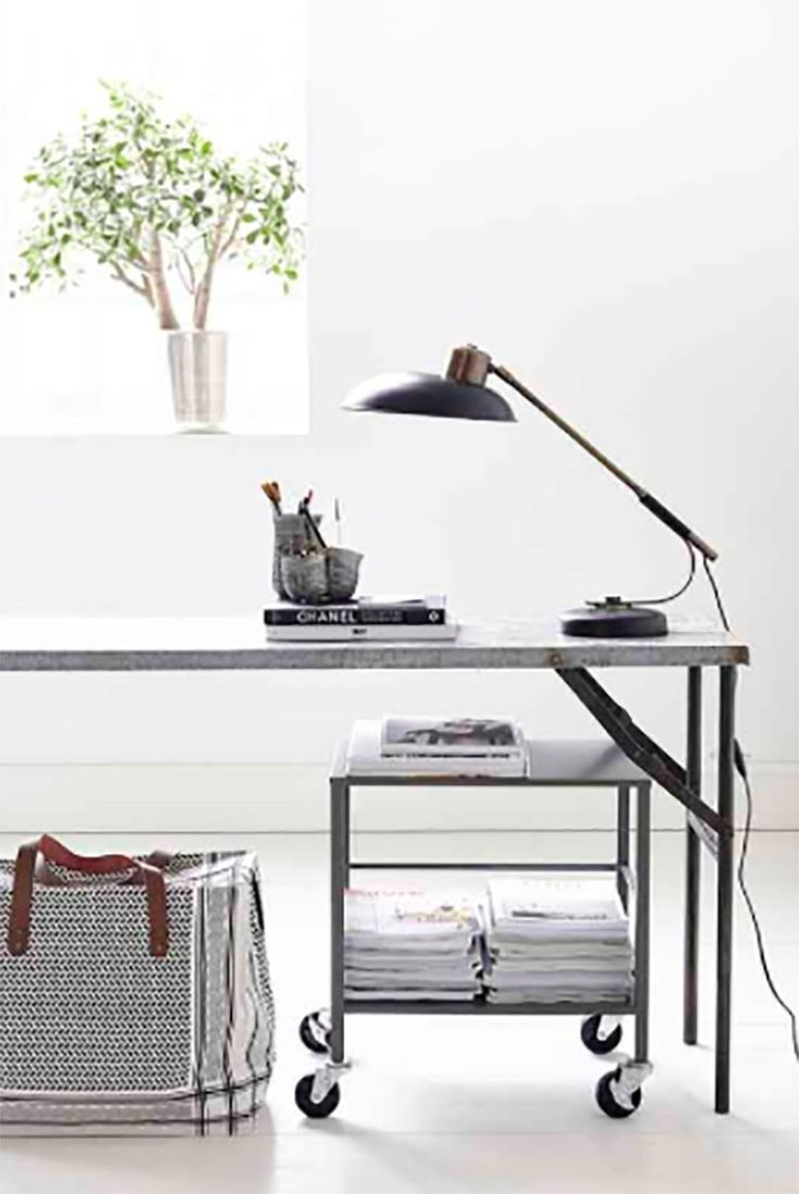 These industrial trestle tables work brilliantly as console tables, desks or worktops