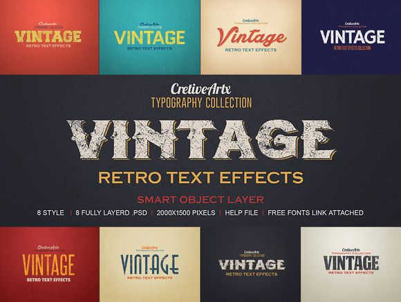 Check out Vintage/Retro Text Effects 3 by creativeartx on Creative Market