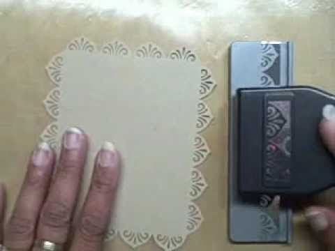 good instructions for making accurate border punching: Perfect Punch, Border Punch, Cards Punch, Punch Tutorials, Punch Border, Frames Tutorials, Border Frames, Corner Punch, Edge Punch