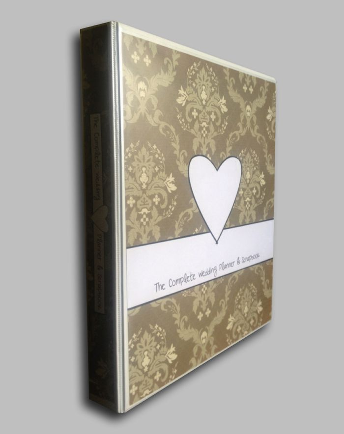 Wedding Planner Book Diary Binder Folder Classic Brown Pattern Memento