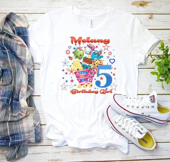 Shopkins Birthday Shirt Personalized Girl K3