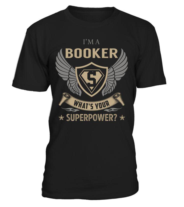 Booker Superpower Job Title T-Shirt #Booker