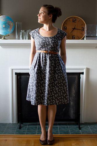 scoop neck washi dress // skirt as top
