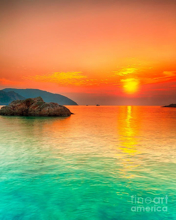 Sunset over the sea - Con Dao, Vietnam