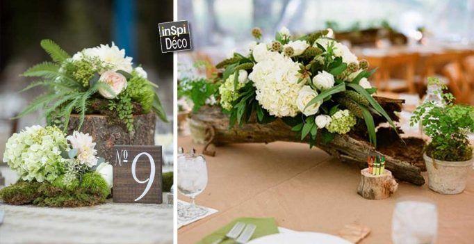 Centre de table avec fleurs pour mariage! Voici 20 déco sublimes…