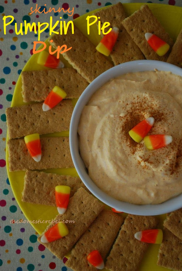 Skinny Pumpkin Pie Dip | Halloween | Pinterest