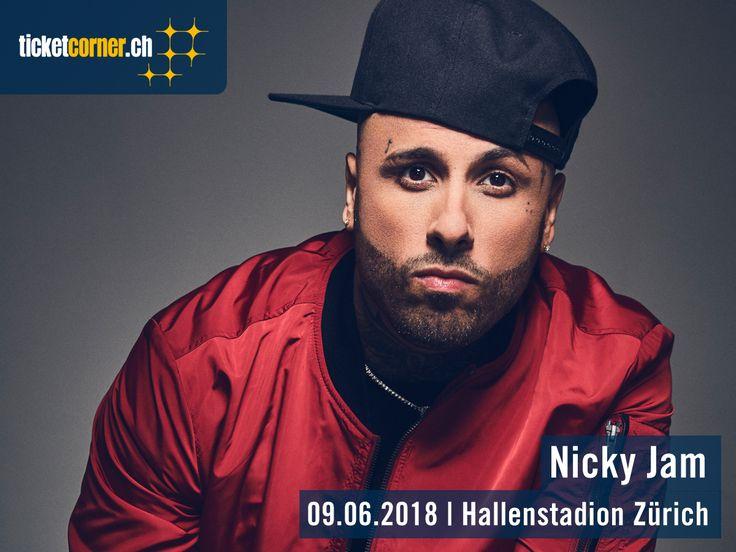 Der Reggaeton-Sänger Nicky Jam kommt am 9. Juni 2018 ins Hallenstadion Zürich! Sein Hit mit Enrique Iglesias «El Perdon» hielt sich 26 Wochen an der Spitze der Billboard Hot Latin Songs Charts.