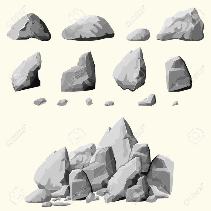 Výsledek obrázku pro kámen kreslený