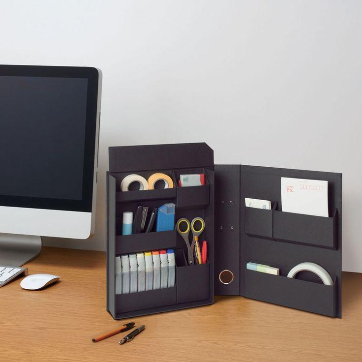 「ファイルの中に収納する」新発想のファイルボックス。文具、裁縫、コスメなど、細々としたものを仕分けして本棚に。物が多くて整理・分類が苦手な方にもおすすめです。