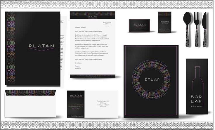Platán modern étterem arculat | Kreatív Webdesign Tanfolyam