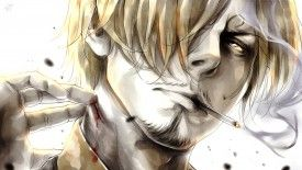Sanji Smoking One Piece Anime HD Wallpaper 1920×1080