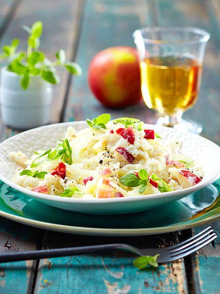 Apfel-Fenchel-Risotto mit Ricotta