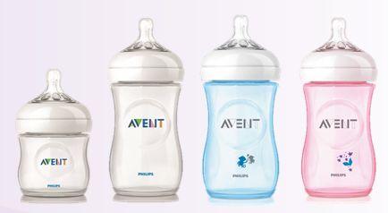 AVENT - BPA free baby bottles.