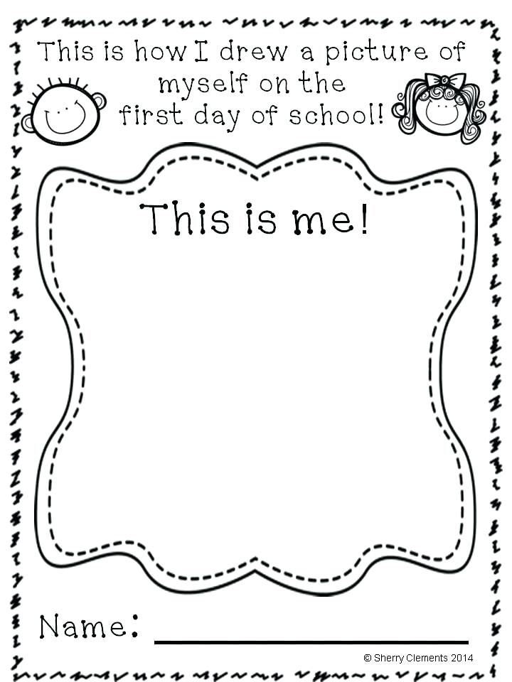 pre school coloring page first day of grade coloring page