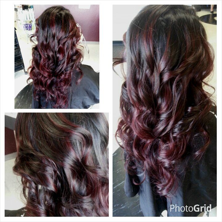 dark balayage straight purple | jpg