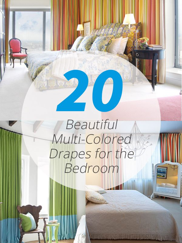 Home Design Lover Part - 33: 20 Beautiful Multi-Colored Drapes For The Bedroom