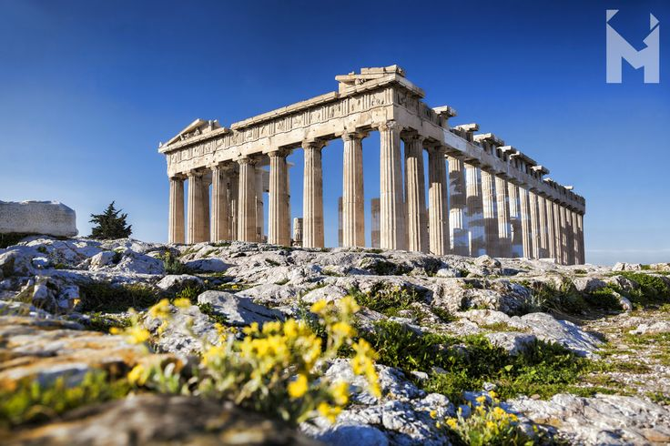 Welcome May! 🌼  The magnificent temple on the Acropolis of Athens, known as the Parthenon, was built between 447 and 432 B.C. in the Age of Pericles, and it was dedicated to the city's patron deity Athena. The temple was constructed to house the new cult statue of the goddess by Pheidias and to proclaim to the world the success of Athens as leader of the coalition of Greek forces which had defeated the invading Persian armies of Darius and Xerxes. #MentorInGreece #AncientGreece