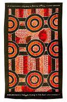 Kamilaroi Teatowel - Orange Galinggalin Dreaming Artist: Kelly Roach Cotton - 78cm x 45cm Code: TT02 Price: $6.00 ea OR 3 for $15.00