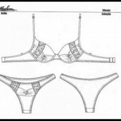 imagens de moldes de calçinha e sutiã