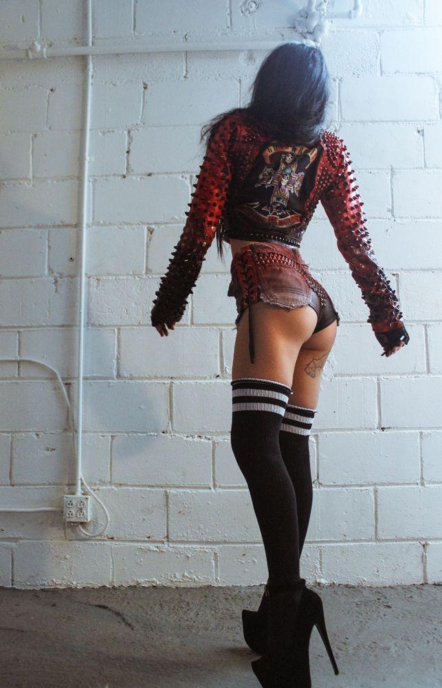 Toxic Vision Guns N Roses Biker Jacket Red Pinterest