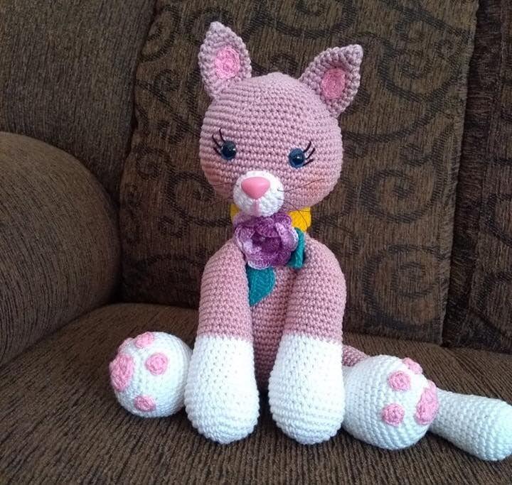 Hello kitty amigurumi crochet - YouTube | 683x720