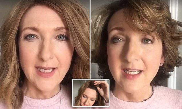 Victoria Derbyshire removes wig to reveal regrowing hair after cancer