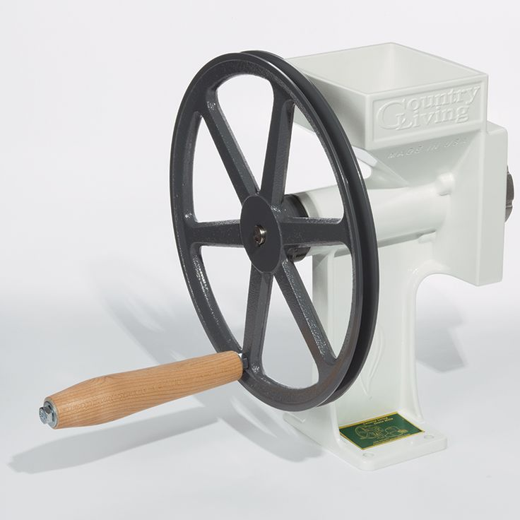Grind wheat and other grains into fine flour and a multitude of other uses with the Country Living Grain Mill.