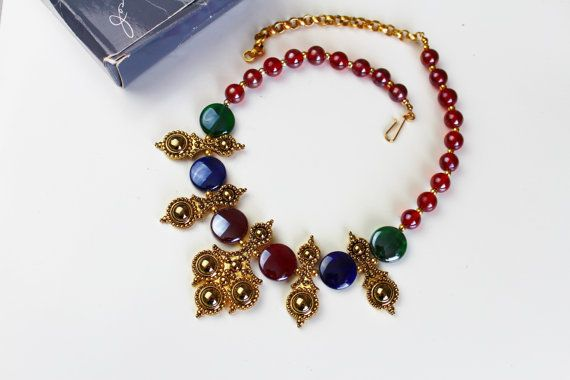 Vintage Jose Maria Barrera for Avon Adriatic Necklace/ by Jewelrin  #BarreraAdriatic #BarreraForAvon