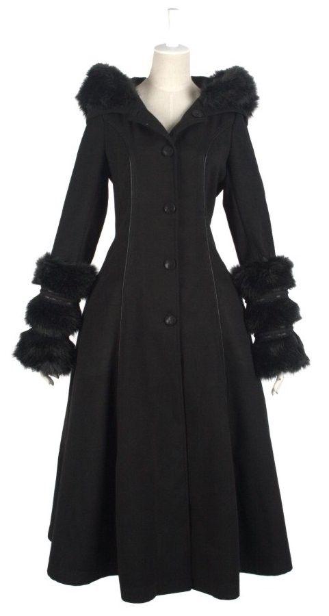 Long Manteau Gothique Lolita Cyber Réservible