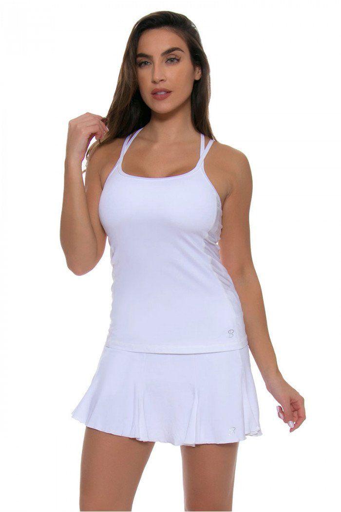 b5b4f9d0038695 Sofibella Women s Victory Athletic Cami White Tennis Tank