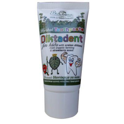 Diktadent kruiden tandpasta voor kinderen. herbal tandpasta voor kids