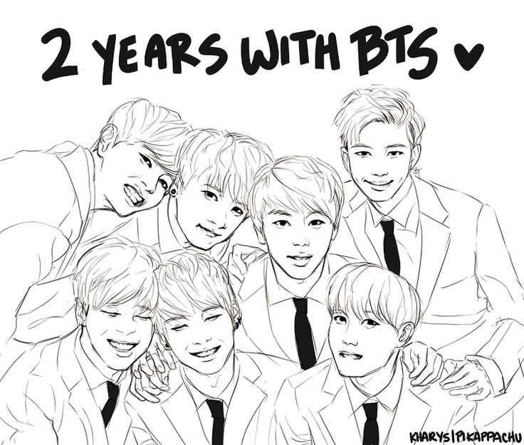 Bts Coloring Pages Printable Coloring