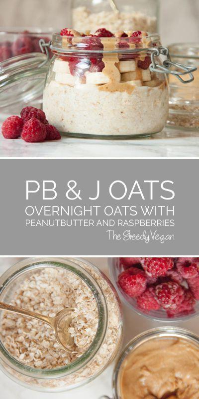 #oats #overnightoats #raspberries #berries #peanutbutter #breakfast #vegan