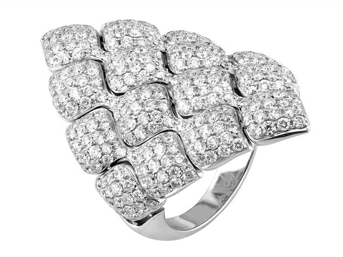 18K white gold  ring set with 4.28carat diamonds  Italian Couture Collection www.fashionbysako.com