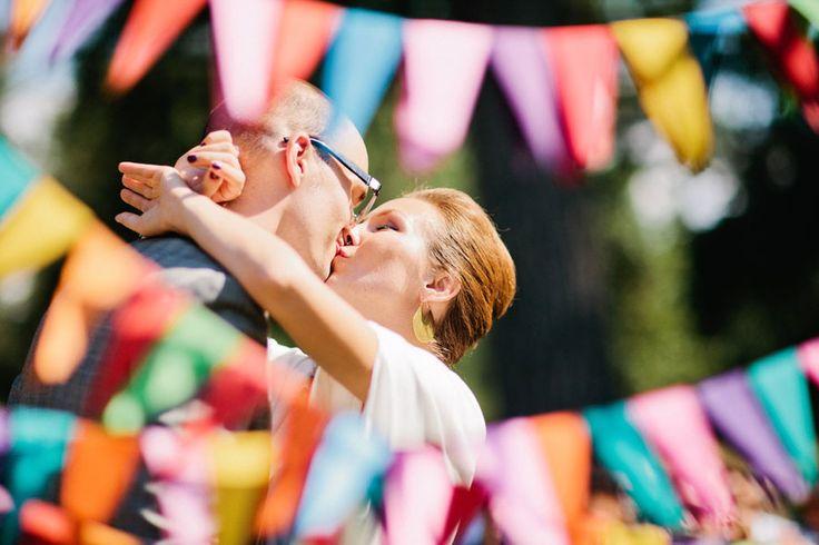 Theme: Geometric Rainbow http://www.etsy.com/blog/weddings/real-weddings-etsy-handmade-geometric/#