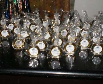 Mini Alcohol Favor Bottles (trying this again!) :  wedding custom favors mini alcohol bottle mini bottle Slivo On Table