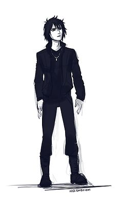Anubis from the Kane Chronicles. Or and older looking Nico di Angelo... whatever