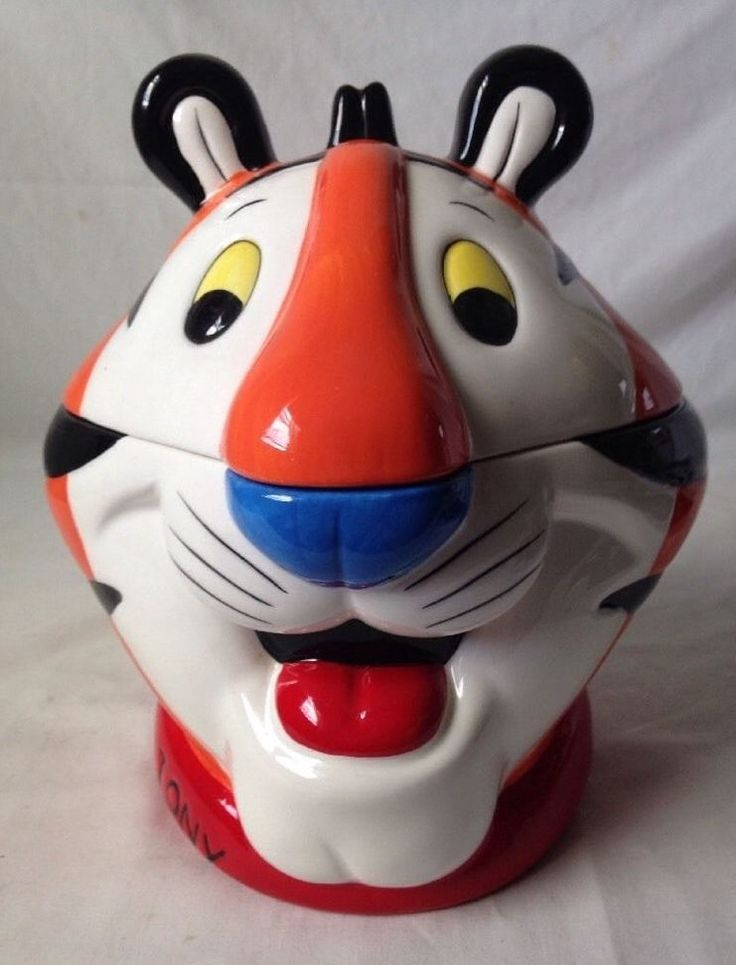 Tony the Tiger Head Cookie Jar Kelloggs Frosted Flakes 2002 #HoustonHarvest