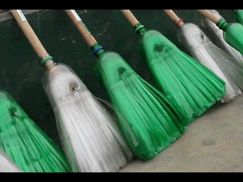 How to make a broom from plastic bottles | Homemade - YouTube