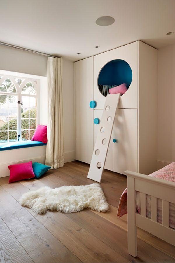 25 best ideas about cool loft beds on pinterest bunk. Black Bedroom Furniture Sets. Home Design Ideas